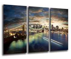 Poster Fotográfico Ciudad New York City, Atardecer Tamaño total: 97 x 62 cm XXL