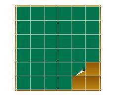 Adhesivo para azulejos para baño y cocina – 10 x 10 cm – verde mate – 160 adhesivos para azulejos para pared azulejos