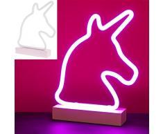Lesser & Pavey Lámpara de neón rosa unicornio
