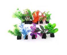 Sourcingmap Acuario Artificial Agua Hierba Planta Decoración, varios colores, 12 piezas