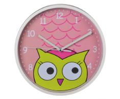Hama Owl Quartz wall clock Círculo Color blanco - Reloj de pared (AA Mignon, Color blanco, De plástico, Vidrio, 225 mm, 41 mm)