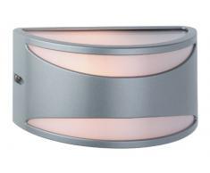 Firstlight Meridian - Lámpara de pared (E27, IP65, 60 W), color plateado