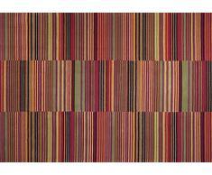 ESPRIT Colorpop - Alfombra (poliacrílico, 180 x 120 x 1 cm), Color Rojo