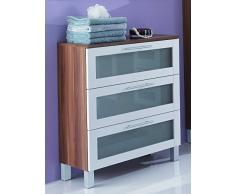 Simply Elan cajón Armario, Estructura aglomerado, Ciruelo/Color Blanco, 31,5x 67x 82cm
