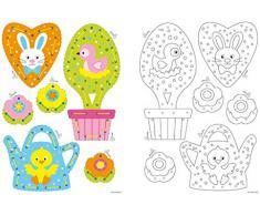 Vervaco - Kit para Perchas de Pascua decoración Bordado Kit, Multicolor, Juego de 2