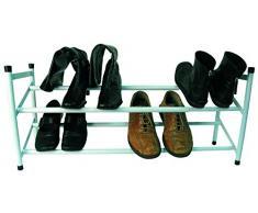 MSV ESTANTERIA para Zapatos-6 A 10 Pares, Metal, Blanco, 36x22x58.5 cm