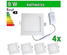 4 x SMD 2835 LEDVero funda utlrafina Panel LED 9 W cuadrado luz blanca fría luz ultrafino para techo