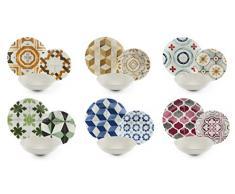 Excelsa Heritage - Vajilla de 18 piezas, porcelana y cerámica Stoneware