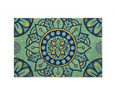 Excelsa Mandala mediterráneo Felpudo Entrada, Fibra de Coco, Multicolor, 40x 60cm