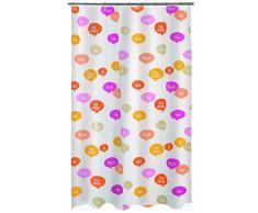 Spirella colección Ciao, Cortina de Ducha Textil 180 x 200, 100% Polyester, Multicolor, Peva, Naranja/Rosa, x cm