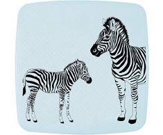 Ridder Alfombrilla de Ducha Zebra de 100% Caucho sintético (TPE = elastómero termoplástico), Color Blanco, Aprox. 54 x 54 cm.