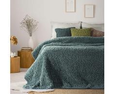 Eurofirany - Manta Suave de Pelo sintético para salón, Dormitorio, sofá o sofá, 150 x 200 cm, Color Turquesa
