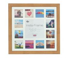 Inov8 16 x 40,64 cm Insta-Frame Marco para Instagram 13/de estampado a cuadros de fotos con paspartú blanco y blanco con borde, 2 unidades, madera de roble 313