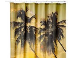 Cortina de ducha (material: 100% poliéster), poliéster, Summer, 180 x 180 cm