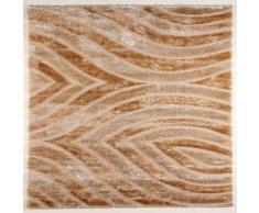 Flora Carpets Shaggy Luxury/ISILTI - Alfombra de Pasillo (poliéster, 300 x 80 x 3 cm), Color Dorado y Beige