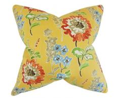 La Almohada Collection Haley para cojín, diseño de Flores Oro, Amarillo