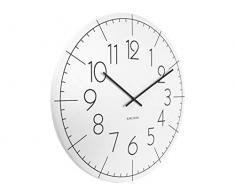 Karlsson hoja XL reloj de pared con números, color blanco