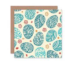 Wee Blue - Tarjeta de felicitación, diseño de Huevo de Pascua