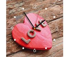Reloj de pared de cocina - corazón de love