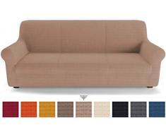 PETTI Artigiani Italiani Sofas, Funda de Sofa Elastica, 100% Made in Italy, Microfibra, Paloma Gris, 2 Plazas (130 a 170 cm)
