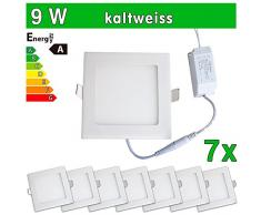 7 x SMD 2835 LEDVero funda utlrafina Panel LED 9 W cuadrado luz blanca fría luz ultrafino para techo