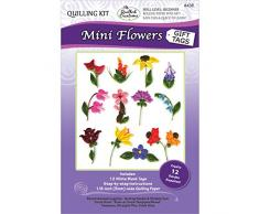 Quilled Creations Kit de quilling de papel mini flor etiquetas de regalo