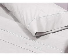 Pierre Cardin Juego de sábanas Arcadia 105-Color Blanco, Algodón, Cama 105 cm