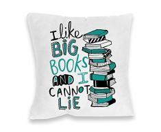 Katie Abey grandes libros de impresión cojín, Multicolor