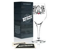 Ritzenhoff Craft Beer Vaso de cerveza, 250 milliliters, Cristal, Schwarz, Weiß, Rot