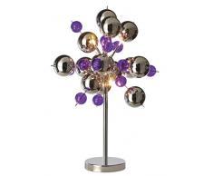Naeve Leuchten C, lámpara de mesa Cristal Ball, metal, 10 W, G4, 50 x 50 x 73 cm, cromo 3073224
