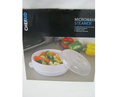 Chef Aid Vaporera de microondas, Color Blanco