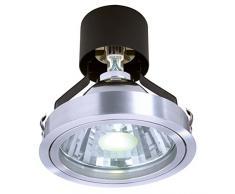 Deko - luz 110108 G12 220-240 V AC/50-60 hz 70 W lámpara de techo de cristal para techo, transparente