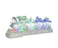 WeRChristmas Pre-Lit cambian de Color LED Musical tren de Navidad escena decoración, plástico, multicolor, 31 cm