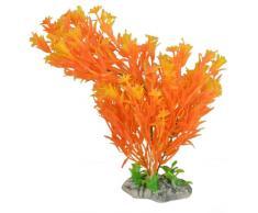 Sourcingmap Plástico Cerámica Base Acuario Artificial Planta Decoración, amarillo/naranja