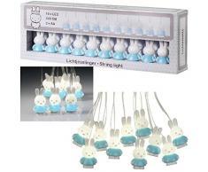 Bambolino Toys 33232 - Iluminación decorativa (Cadena de luces decorativa, Azul, Blanco, Sintético, Habitación de los niños, 10 lámpara(s), LED)