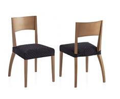 Bartali Pack Dos Fundas elásticas sillas Aitana - Color negro -Tamaño (45 x 45 cm).