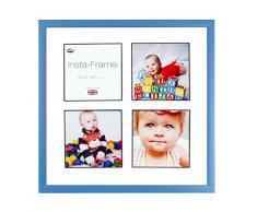 Inov8 16 x 40,64 cm Insta-Frame Marco para Instagram 4/de Estampado a Cuadros de Fotos con paspartú Blanco y Negro con Borde, Azul