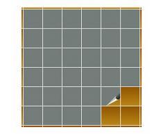 Adhesivo para azulejos para baño y cocina – 10 x 10 cm – gris mate – 240 adhesivos para azulejos para pared azulejos