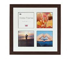 Inov8 16 x 40,64 cm Insta-Frame Austen Marco para Instagram 4/de Estampado a Cuadros de Fotos con paspartú Blanco y Negro con Borde, 2 Unidades, Roble