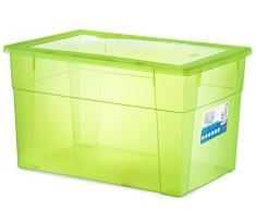 Stefanplast Visualbox - Caja de almacenamiento (plástico), transparente
