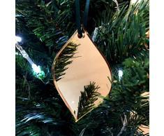 Super Cool Creations Diamond Bauble - Adornos para árbol de Navidad (10 Unidades, Efecto Espejo), Color Dorado