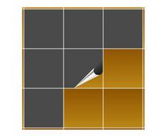 Adhesivo para azulejos para baño y cocina – 20 x 20 cm – Color GRIS oscuro mate – 20 adhesivos para azulejos para pared azulejos