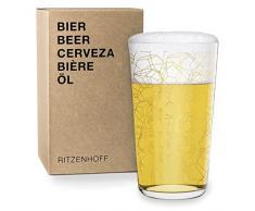 RITZENHOFF Vaso de Cerveza, Dorado, 8.2 cm