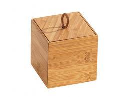 Wenko 23922100 Terra S - Caja de bambú con Tapa (9 x 9 x 9 cm), Color marrón