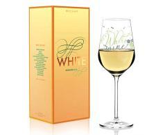 RITZENHOFF - Copa de vino blanco de Kathrin Stockebrand, de cristal, 360 ml, con finas piezas de platino
