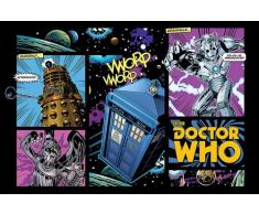 Empire Merchandising 654519 Doctor Who Comic Disposición de la película Póster De TV Serie England Fantasy Sci Fi Science Fiction 91,5 x 61 cm
