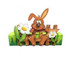 Petra s Manualidades (News a de hsh4 2hzah Juego de manualidades de madera para Pascua, conejo con valla