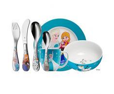 WMF 1286009974 Disney Cubertería Infantil (7 Piezas), diseño de Frozen, Acero 18/10