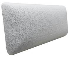 Pikolin Home - Pack de 2 almohadas viscoelásticas, desenfundable, de bambú, hiper-transpirable, firmeza media, 35 x 75 cm, altura 14 cm (Todas las medidas)