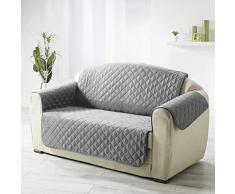 Douceur dIntérieur Protege sofá, Matelasse 223 x 179 cm Microfibra Unie Club Gris